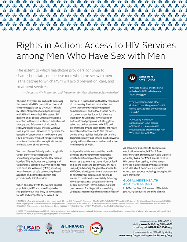 Expert Consultation on Implementation Science and Operational Research Priorities for Strengthening Access to Care and Treatment Services for MSM Living with HIV