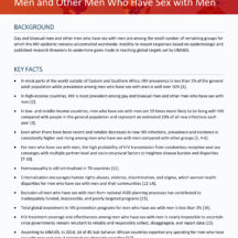 QUICK REFERENCE FACT SHEET: HIV Among Gay and Bisexual Men and Other Men Who Have Sex With Men