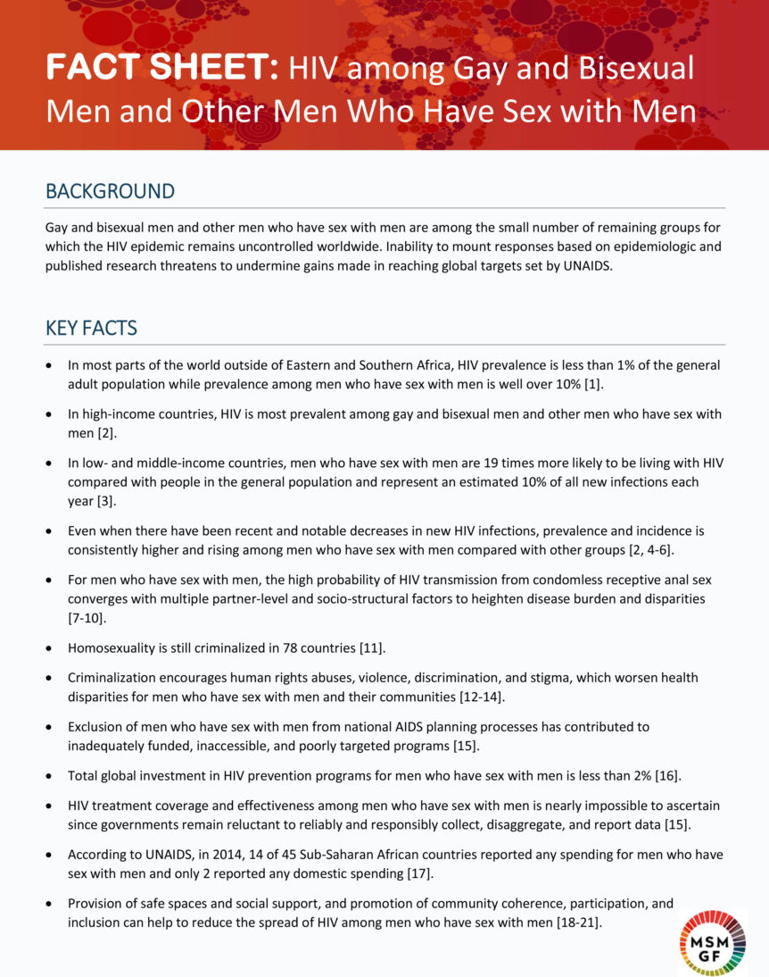Microsoft Word - MSM and HIV Fact Sheet_April 29 2016_Edited and